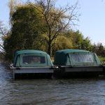 Bateau de pêche sur le lot en France