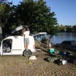 Karpfen Boot Verpackung zum Lot in Frankreich
