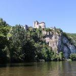 Saint Cirq De Lapopie with a view from the boat. Lot Experience is everywhere