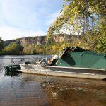 Bootsfischen Fluss Lot