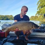 Beautiful carp fish caught on the Lot river